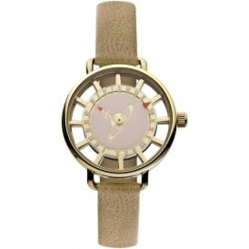 Vivienne Westwood VV055PKTN Tate Gold & Brown Leather Ladies Watch