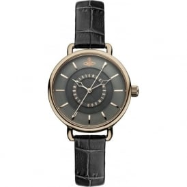 Vivienne Westwood VV076CHCH Gainsborough Rose Gold & Dark Grey Textured Ladies Watch