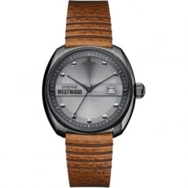 Vivienne Westwood VV080GNTN Bermondsey Grey & Tan Leather Mens Watch