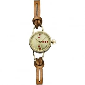 Vivienne Westwood VV081GDBR Chancery Gold & Brown Leather Ladies Watch