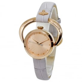 Vivienne Westwood VV082RSGY Horseshoe Rose Gold & Lilac Leather Ladies Watch