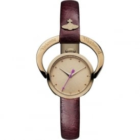 Vivienne Westwood VV082RSRD Horseshoe Rose Gold & Red Leather Ladies Watch
