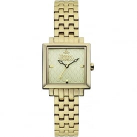 Vivienne Westwood VV087GDGD Exhibitor Gold Stainless Steel Ladies Watch