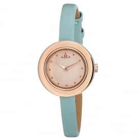 Vivienne Westwood VV097RSTQ Edge Rose Gold & Blue Leather Ladies Watch