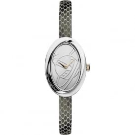 Vivienne Westwood VV098SLBK The Twist Silver & Black Leather Ladies Watch