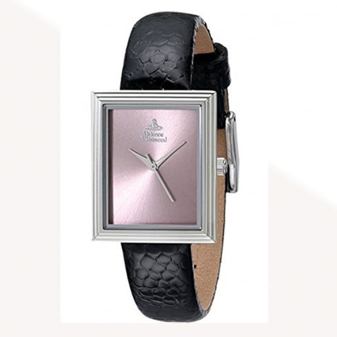 Vivienne Westwood Vivienne Westwood VV115PKBK Berkeley Silver & Black Leather Ladies Watch