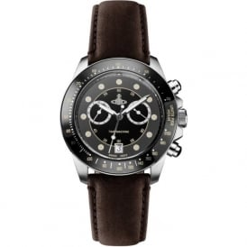 Vivienne Westwood VV118BKBR Barbican Black & Brown Leather Mens Watch