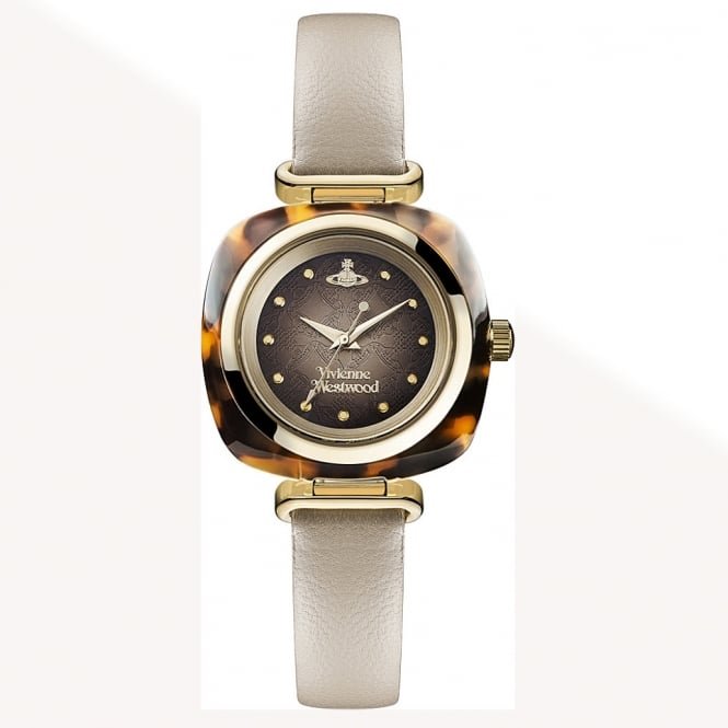 Vivienne Westwood Vivienne Westwood VV141BG Beckton Tortoise Shell & Beige Leather Ladies Watch