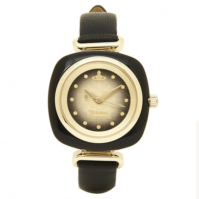 Vivienne Westwood Vivienne Westwood VV141BKBK Beckton Gold & Black Leather Ladies Watch