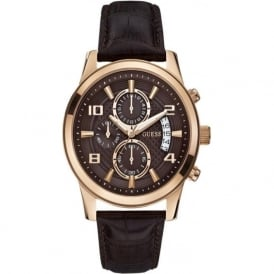 Guess W0076G4 Exec Rose Gold Chronograph Watch