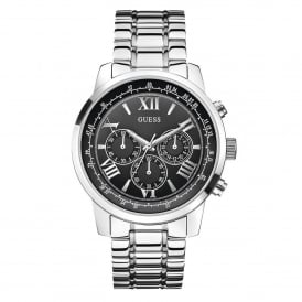 W0379G1 Horizon Black & Silver Stainless Steel Mens Watch