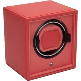 Wolf Designs Cub Coral Leather & Coral Single Watch Winder 1.8
