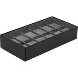 Wolf Designs Black 12 Piece Watch Tray