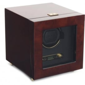 Wolf Designs Savoy Burlwood & Gold Single Watch Winder 2.7