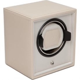 Wolf Designs Cub Cream Leather & Cream Single Watch Winder 1.8