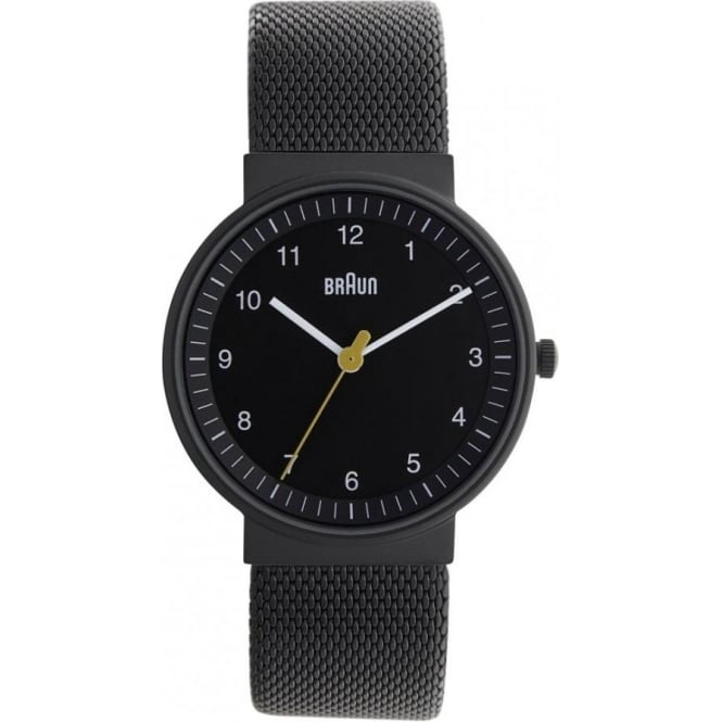 Braun Watches Womens Black Stainless Steel Watch BN0031BKBKMHL